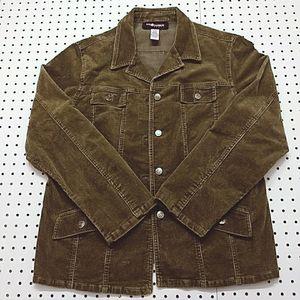 Sag Harbor Corduroy Hunter Green Jacket